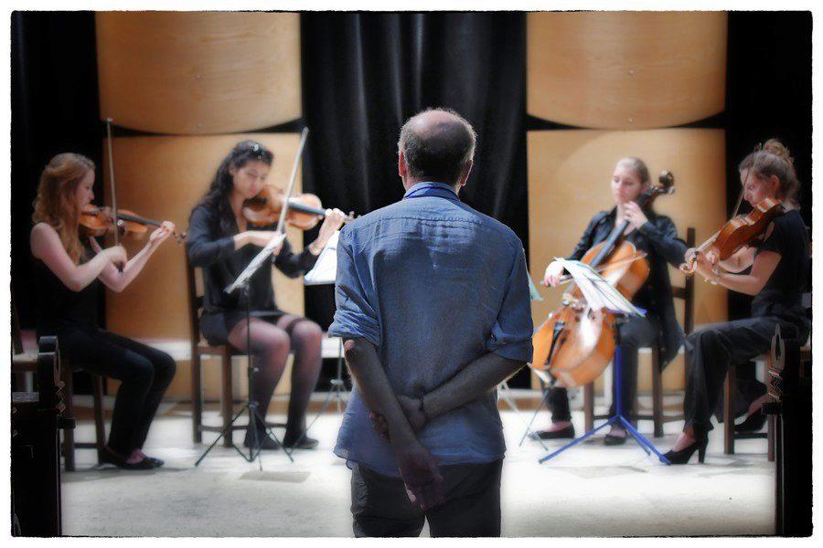 Répétition d'un quatuor de l'Académie @Jean-Jacques Schneider