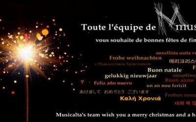 Toute l'équipe de Musicalta vous souhaite de bonnes fêtes de fin d'année