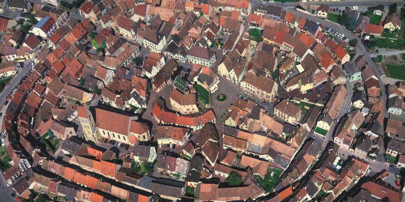 Vue aérienne d'Eguisheim @Mairie d'Eguisheim